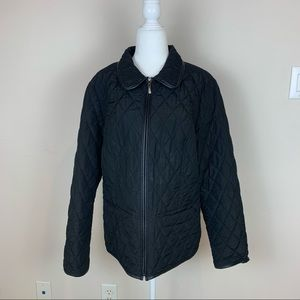 Charter Club Quilted Waterproof Jacket Black Sz L